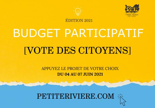Budget participatif 2021 : Le vote des citoyens débute le 04 juin !