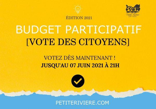 Budget participatif 2021 – Trois projets soumis au vote des citoyens