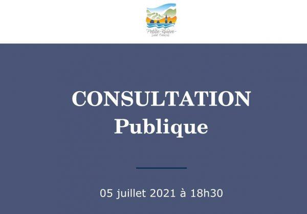 SOIRÉE DE CONSULTATION LE 5 JUILLET 2021 – 18H30