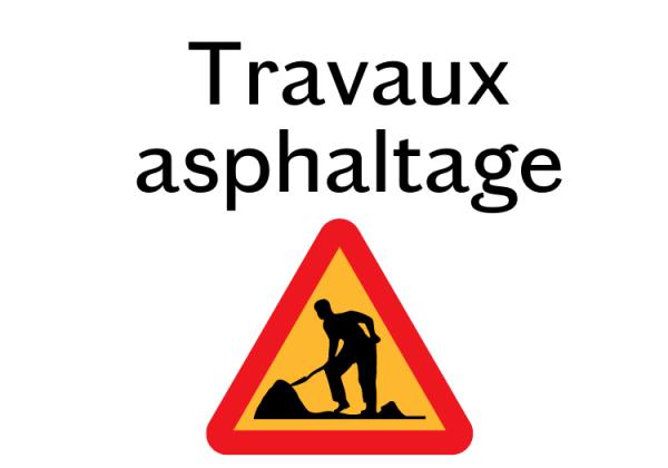 TRAVAUX D'ASPHALTAGE – FINITION